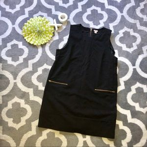 J Crew stretch black shift dress in black XXL